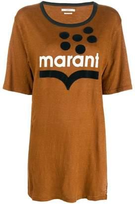 Etoile Isabel Marant longline logo print T-shirt