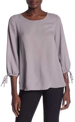Pleione 3\u002F4 Length Tie Sleeve Blouse