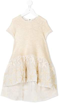 Quis Quis sea star embroidered dress
