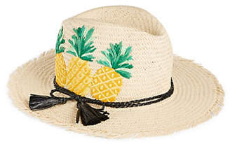 Kate Spade Pineapple Trilby Straw Hat