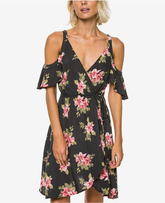 O'Neill Cecelia Floral-Print Cold-Shoulder Dress