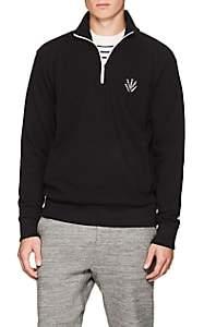 Rag & Bone Men's Embroidered Cotton Piqué Sweatshirt - Black