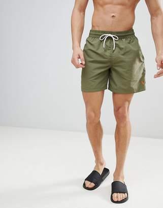 Polo Ralph Lauren Traveller Swim Shorts Player Logo In Olive Green