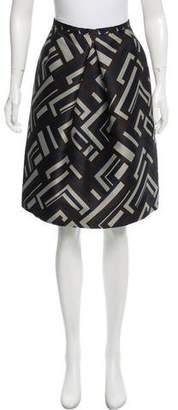 Max Mara 'S Pleated Jacquard Skirt