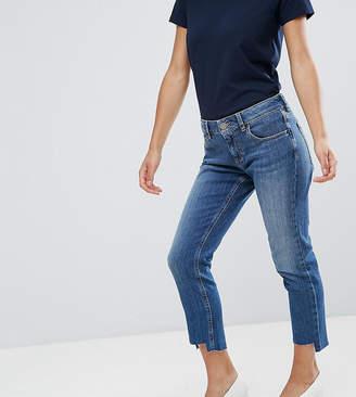 Asos Kimmi Shrunken Boyfriend Jeans In Blake Vintage Darkwash With Stepped Hem