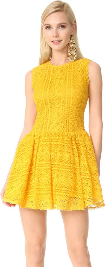 RED ValentinoRED Valentino Lace Mini Dress