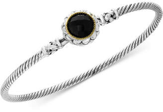 Effy Balissima by Onyx Bangle Bracelet in Sterling Silver & 18k Gold