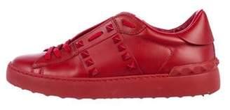 Valentino Rockstud Leather Sneakers