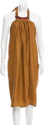 Sofie D'hoore Silk Halter Midi Dress w/ Tags
