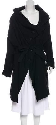 Ann Demeulemeester Long Sleeve Draped Coat