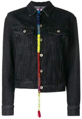 Loewe wool trim denim jacket