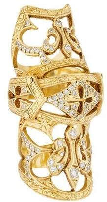 Loree Rodkin 18K Diamond Bondage Ring