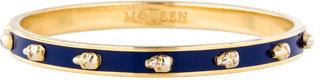 Alexander McQueenAlexander McQueen Thin 3D Skull Bangle Bracelet