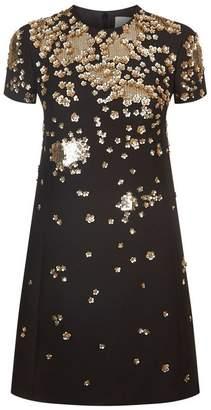 Valentino Floral Sequin Embellished Dress