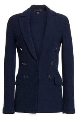 St. John Women's Ana Boucle Knit Blazer - Deep Blue - Size 0