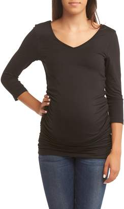 BABY MOON Ruched Maternity Top