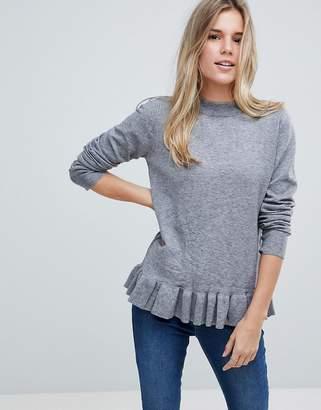 B.young Ruffle Hem Sweater