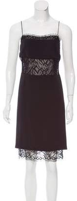 ADAM by Adam Lippes Lace-Trimmed Knee-Length Dress