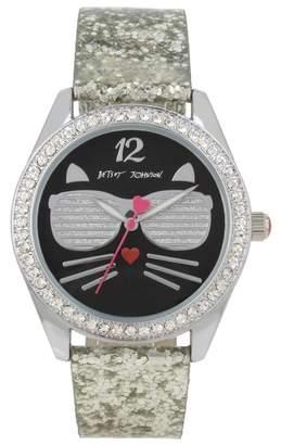 Betsey Johnson Women's Sunglass Kitty Quartz Watch, 40mm