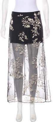 Haute Hippie Floral Midi Skirt w/ Tags