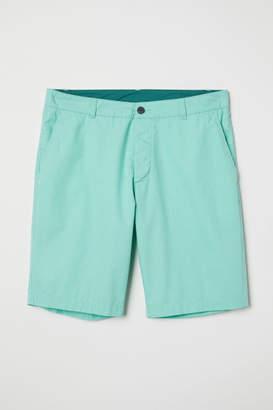H&M Knee-length Cotton Shorts - Green