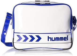 Hummel (ヒュンメル) - [ヒュンメル]ショルダーバッグ エナメルショルダーバッグ ホワイト×ロイヤルブルー