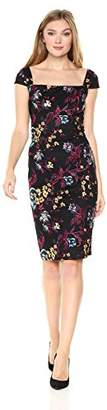 Nicole Miller New York Women's Embroidered Sheath Dress
