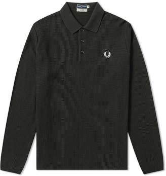 Fred Perry Long Sleeve Texture Knit Polo