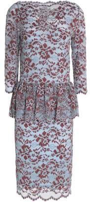 Ganni Flynn Lace Peplum Dress