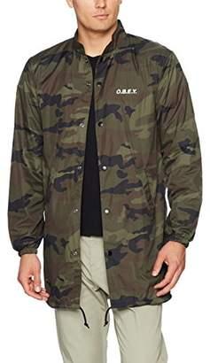 Obey Men's Mock Neck Trench Jacket
