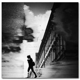 "aquagirl (アクアガール) - Dragoslav S 'Reflection On The Street' Canvas Art - 14"" x 14"" x 2"""