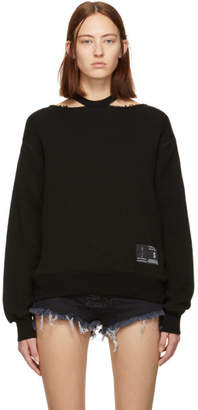 Unravel Black Cut-Out Sweater
