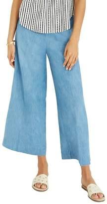 Madewell Huston Chambray Pull-On Crop Pants