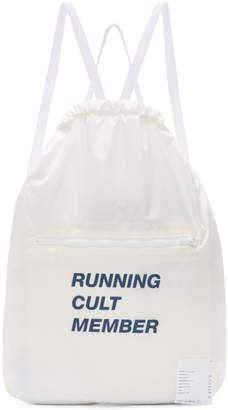 Satisfy White Running Cult Member Gym Backpack