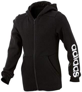 adidas Girls Linear Full Zip Hoodie