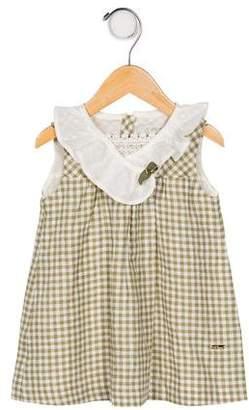 Carrera Pili Girls' Linen Checkered Dress