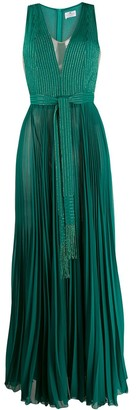 Elisabetta Franchi pleated long dress