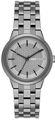 DKNY DNKY5) Women's Quartz Watch with Grey Dial Analogue Display and Grey Stainless Steel Bracelet NY2384