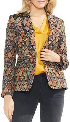 Vince Camuto Tapestry One-Button Blazer