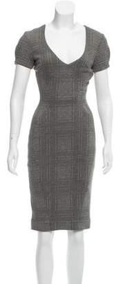 L'Agence Patterned Midi Dress w/ Tags