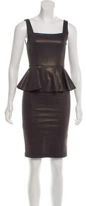 Alice + Olivia Knee-Length Peplum Dress