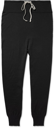 Rick Owens Slim-Fit Tapered Knitted Wool Trousers $700 thestylecure.com