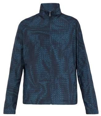 Bottega Veneta Intrecciato Print Nylon Jacket - Mens - Blue