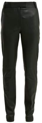 Joseph Reeve Stretch Leather Trousers - Womens - Green
