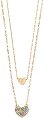 Lauren Conrad Layered Heart Necklace