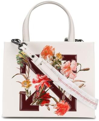 Off-White floral-print logo tote bag