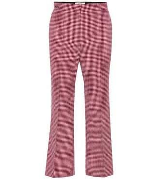 Fendi Houndstooth virgin wool pants