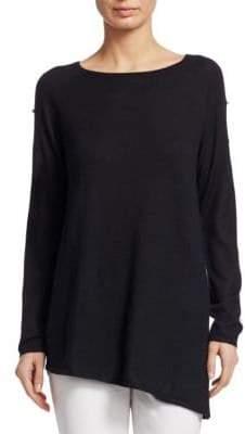 TSE x SFA Cashmere Pearl-Sleeve Top