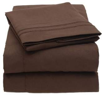 Sweet Home Collection Egyptian Comfort 1800 Thread Count 4-Piece Deep Pocket Bedroom Microfiber Bed Sheet Set