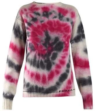 Prada Tie Dye Wool Blend Sweater - Womens - Black Pink